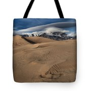Ripples Dunes And Clouds Tote Bag