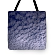 Ripples In The Dark Blue Sky Tote Bag