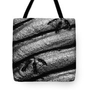 Ripples With Footprints Tote Bag