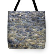 Rippling Water Over Rocks Tote Bag
