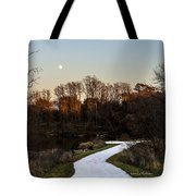 Rising Moon Fishing Tote Bag