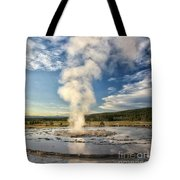 Rising Steam Tote Bag