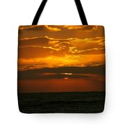 Rising Sun In The Clouds  Tote Bag