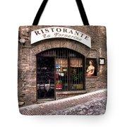Ristorante La Fornaina. Urbino Tote Bag