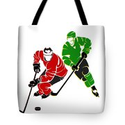 Rivalries Blackhawks And North Stars Tote Bag