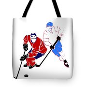 Rivalries Canadiens And Nordiques Tote Bag