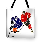 Rivalries Oilers And Flames Tote Bag