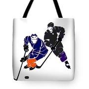 Rivalries Oilers And Kings Tote Bag