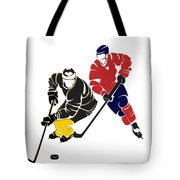 Rivalries Penguins And Capitals Tote Bag