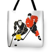 Rivalries Penguins And Flyers Tote Bag