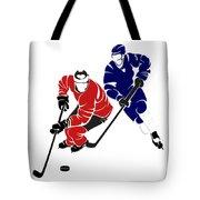 Rivalries Senators And Maple Leafs Tote Bag