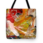 Rivals Face To Face 1 Tote Bag by Mark Moore
