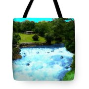 River And Waterfall In France Tote Bag