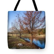 River And Winter Trees Tote Bag