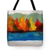 River Bank In Color Tote Bag