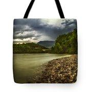 River Below The Clouds Tote Bag