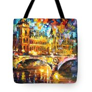 River City - Palette Knife Oil Painting On Canvas By Leonid Afremov Tote Bag