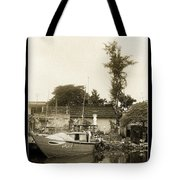 River Fishing Boat In Hoi An Tote Bag
