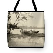 River Fishing Boats In Hoi An Tote Bag