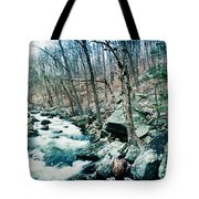 River Flowing Through A Valley, Hudson Tote Bag