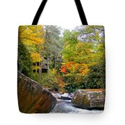 River House In The Fall Tote Bag