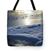 River Ice Tote Bag