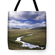 River In A Landscape Tote Bag