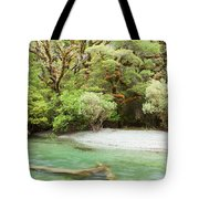 River In Rainforest Wilderness Of Fiordland Np Nz Tote Bag
