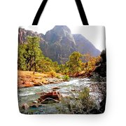 River In Zion National Park Tote Bag