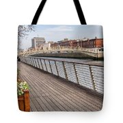 River Liffey Boardwalk In Dublin Tote Bag
