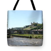 River Main With Fortress - Wuerzburg Tote Bag