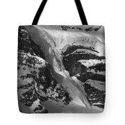 1m3646-bw-river Of Ice On Snowbird Glacier Tote Bag