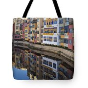 River Onyar Girona Spain Tote Bag