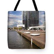 River Promenade In Rotterdam Tote Bag
