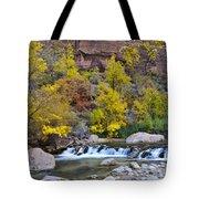 River Rapids In Zion Tote Bag