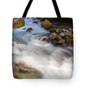 River Rapids Washing Over Rocks With Silky Look Tote Bag