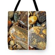 River Rocks 16 In Stereo Tote Bag
