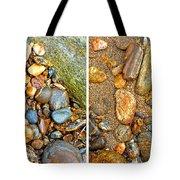 River Rocks 9 In Stereo Tote Bag