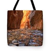 River Rocks In The Narrows Tote Bag