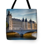 River Seine With Conciergerie Tote Bag