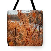 River Side Foliage Autumn Tote Bag