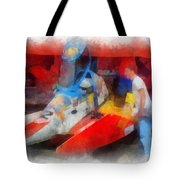 River Speed Boat Number 2 Photo Art Tote Bag