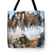 River Stampede Tote Bag