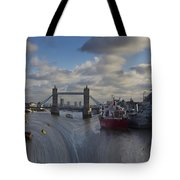 River Thames Waterfall Tote Bag