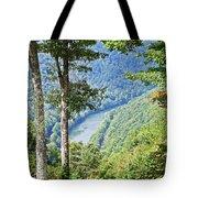 River Thru The Trees Tote Bag