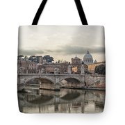 River Tiber In Rome Tote Bag