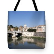 River Tiber With The Vatican. Rome Tote Bag