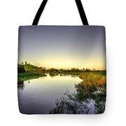 River Tone At Burrowbridge Tote Bag