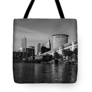 River View Of Cleveland Ohio Tote Bag