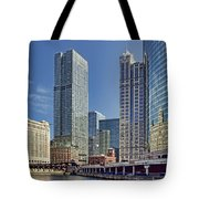 River View Skyline Tote Bag
